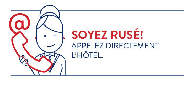 contatta il tuo albergo - messaggio breve - lingua francese