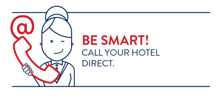 contatta il tuo albergo - messaggio breve - lingua inglese