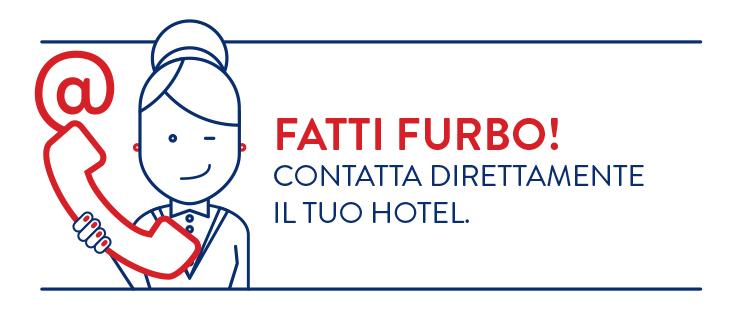 contatta il tuo albergo - messaggio breve - lingua italiana