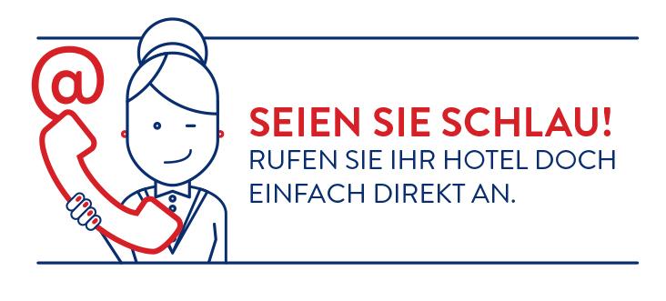contatta il tuo albergo - messaggio breve - lingua tedesca